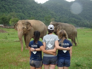 Bittersweet goodbyes. We had an incredible two weeks at Elephant Nature Park!